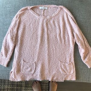Light pink knit sweater